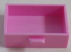 LEGO - Schublade / Cupboard 2 x 3 x X (2 Stück), leuchtend rosa # 4536