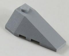 LEGO - Ecke / Wedge 4 x 2 rechts (2 Stück), hell blaugrau # 43711