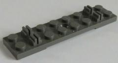 LEGO Zug / Train - 2 x Bahnschwelle / Track Sleeper Plate 2x8, dunkelgrau # 767
