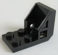 LEGO - Halter / Bracket (Space Seat) 2 x 2 - 2 x 2 (2 Stück), schwarz # 4598