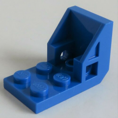 LEGO - Halter / Bracket (Space Seat) 2 x 2 - 2 x 2 (2 Stück), blau # 4598