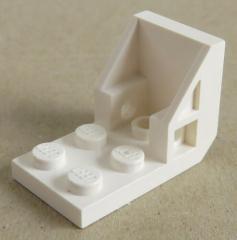 LEGO - Halter / Bracket (Space Seat) 2 x 2 - 2 x 2 (2 Stück), weiß # 4598