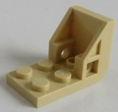 LEGO - Halter / Bracket (Space Seat) 2 x 2 - 2 x 2 (2 Stück), beige # 4598