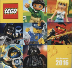 Lego - Katalog / Prospekt Juli - Dezember 2016 # 617.1129-DE/A (keine Steine !!)