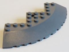 LEGO - Stein / Brick / Ecke 10 x 10 rund, geneigt 33, dunkel blaugrau # 58846