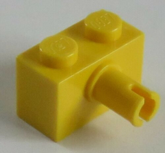 LEGO - Stein / Brick 1 x 2 mit Pin (10 Stück), gelb # 2458