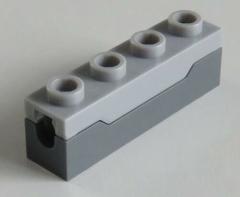 LEGO - Raketenwerfer / Spring Shooter (2 Stück), hell blaugrau # 15301c01