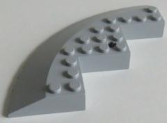 LEGO - Stein / Brick / Ecke 10 x 10 rund, geneigt 33, hell blaugrau # 58846