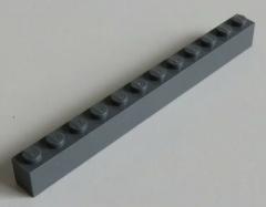 LEGO - Stein / Brick 1 x 12 (2 Stück), dunkel blaugrau # 6112
