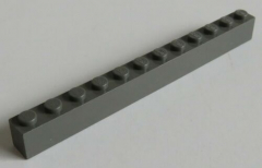 LEGO - Stein / Brick 1 x 12, dunkelgrau # 6112