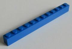 LEGO - Stein / Brick 1 x 12 (2 Stück), blau # 6112
