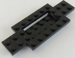 LEGO - Fahrgestell / Vehicle Base 4 x 10 x 2/3 (2 Stück) schwarz # 30029