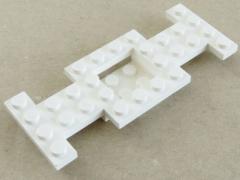 LEGO - Fahrgestell / Vehicle Base 4 x 10 x 2/3 ( 2 Stück ), weiß # 4212b