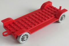 LEGO Fabuland - Fahrgestell / Vehicle Base 14 x 6 m. Kupplung, rot # fabaa1
