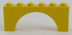LEGO - Bogen / Arch 1 x 6 x 2 (2 Stück), gelb # 3307