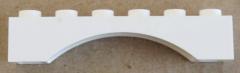 LEGO - Bogen / Arch 1 x 6 (2 Stück), weiß # 3455