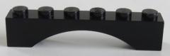 LEGO - Bogen / Arch 1 x 6 (4 Stück), schwarz # 3455