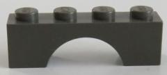 LEGO - Bogen / Arch 1 x 4 (6 Stück), dunkelgrau # 3659