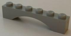 LEGO - Bogen / Arch 1 x 6 (2 Stück), hellgrau # 3455