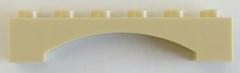 LEGO - Bogen / Arch 1 x 6 erhöht (4 Stück), beige # 92950