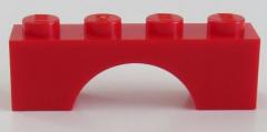 LEGO - Bogen / Arch 1 x 4 (6 Stück), rot # 3659
