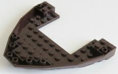 LEGO - Boot Rumpf / Bug / Bow Brick 10 x 12 x 1, dunkelbraun # 47404