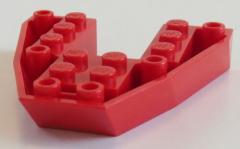 LEGO - Boot Rumpf / Bug / Bow Brick 6 x 6 x 1 (2 Stück), rot # 2626