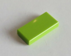 LEGO - Fliese / Tile 1 x 2 (10 Stück) , lime # 3069b