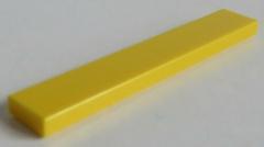 LEGO - Fliese / Tile 1 x 6 (4 Stück) , gelb # 6636