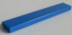 LEGO - Fliese / Tile 1 x 6 (4 Stück) , blau # 6636