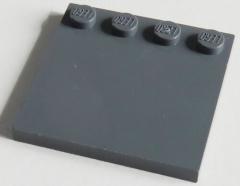LEGO - Fliese / Tile 4 x 4 mit 4 Noppen am Rand (2 St.) , dunkel blaugrau # 6179