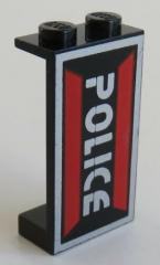 LEGO - Paneel 1 x 2 x 3 bedruckt mit Space Police Logo, schwarz # 2362pb05