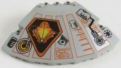 LEGO - Paneel / UFO Oberteil 10 x 10 x 2 1/3 bedruckt, hellgrau # 30117pb01