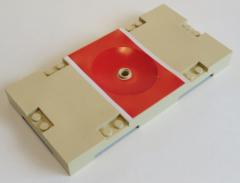 LEGO Sports - Basketball - Spielfeld 8 x 16 (2 Stück), beige / rot # 30489pb01