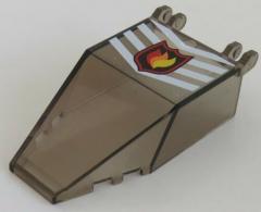 LEGO - Windschutzscheibe 7 x 4 x 1 2/3 mit Sticker, transp. schwarz  # 30372pb01