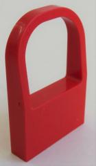 LEGO Fabuland - Fenster / Window, Bogenfenster 1 x 4 x 5, rot # fabai4