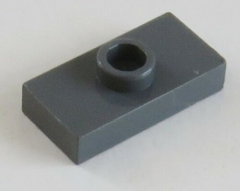 LEGO-Platte / Plate / Fliese 1 x 2 mit 1 Noppe (4 Stück), dunkel blaugrau # 3794