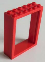 LEGO - Rahmen / Frame Türrahmen 2 x 6 x 6 (2 Stück), rot # 6235