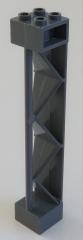LEGO - Stütze / Support 2 x 2 x 10 dreieckige Verbinder Typ 2, dunkel blaugrau # 57893