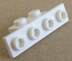 LEGO - Halter / Bracket 1 x 2 - 1 x 4 (6 Stück), weiß # 2436