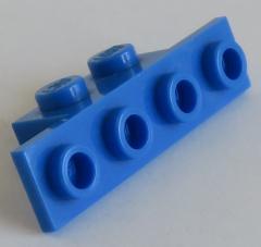 LEGO - Halter / Bracket 1 x 2 - 1 x 4 (6 Stück), blau # 2436