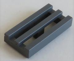 LEGO - Fliese / Tile - Grill / Gitter 1 x 2 (10 Stück) , dunkel blaugrau # 2412b