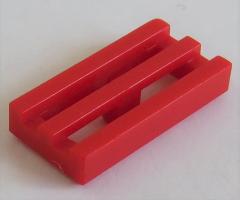 LEGO - Fliese / Tile - Grill / Gitter 1 x 2 (10 Stück) , rot # 2412b