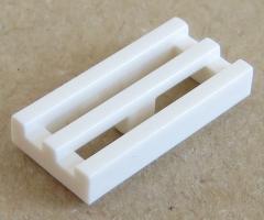 LEGO - Fliese / Tile - Grill / Gitter 1 x 2 (10 Stück) , weiß # 2412b