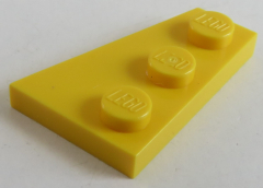 LEGO - Platte / Plate 3 x 2 links (4 Stück), gelb # 43723