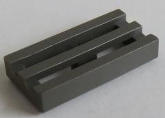 LEGO - Fliese / Tile - Grill / Gitter 1 x 2 (10 Stück) , dunkelgrau # 2412b