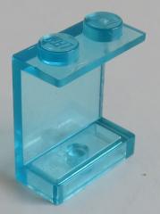 LEGO - Paneel 1 x 2 x 2 mit geschlossenen Noppen (2 Stück), transp. hellblau # 4864a