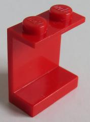 LEGO - Paneel 1 x 2 x 2 mit geschlossenen Noppen (2 Stück), rot # 4864a