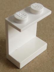 LEGO - Paneel 1 x 2 x 2 mit geschlossenen Noppen (2 Stück), weiß # 4864a