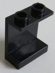 LEGO - Paneel 1 x 2 x 2 mit offenen Noppen, schwarz # 4864b